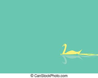 swan background vector