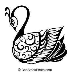 Swan bird silhouette - Bird symbol