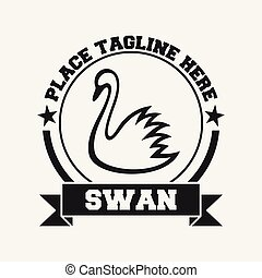 Swan icon design template.