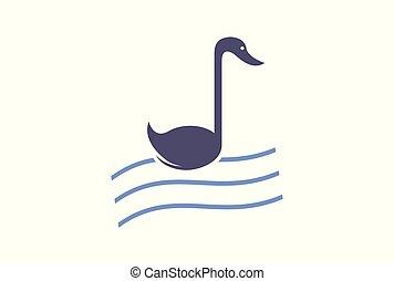 swan note song logo vector