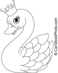 Swan Princess Coloring Page - Image cute swan princess on a...