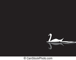 swan vector - image of swan vector isolate on background