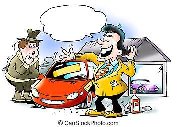 Swank car seller cheating customer