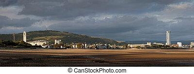 Swansea City coastline