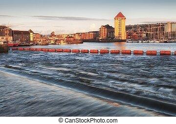 Swansea marina and Tawe barrage