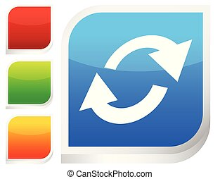 Swap, flip icon. Circular, oval arrows icon