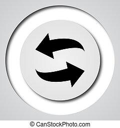Swap icon. Internet button on white background.