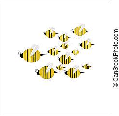 swarm of bees vector