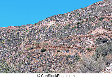 Hairpin bends in the historic Swartberg (Black Mountain) Pass
