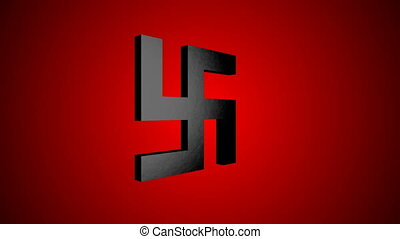 Swastika icon animation. Seamless loop