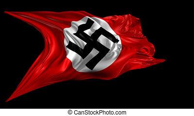 Swastika Nazi flag - 3D animation of the Swastika Nazi flag...