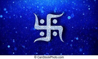 swastika, saint, éclat, swastika, particles., religion, ...