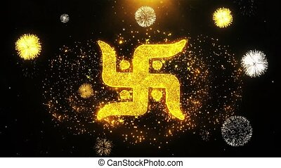 Swastika Symbol Wishes Greetings card, Invitation,...