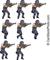 SWAT Officer Walking Animation sprite