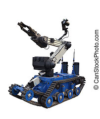 Swat robot - Military or police robot used to move or...