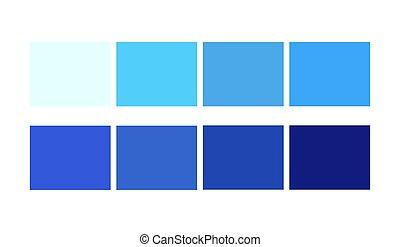 swatches., paletta, kék, csákány, karikatúra, könyvtárak, sablon, design., szín, ligths, árnyék