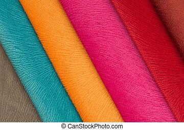swatches, tecido, multicolored