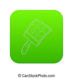 swatter, groene, pictogram