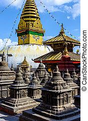 Swayambhunath stupa in Kathmandu, Nepal (before the 2015...
