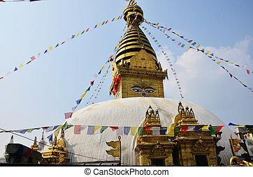Monkey Temple with Buddha eyes