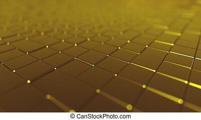 Swaying golden tiles - Swaying golden bars motion background