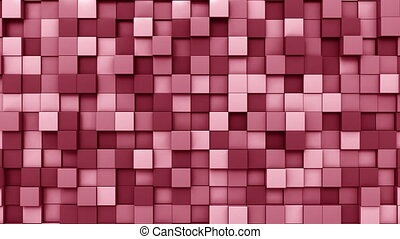 Swaying red squares motion background