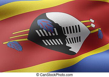 Swaziland 3d flag
