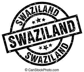Swaziland black round grunge stamp