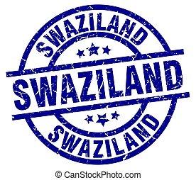 Swaziland blue round grunge stamp