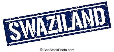 Swaziland blue square stamp