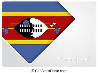 Swaziland flag design background. Vector illustration. -...