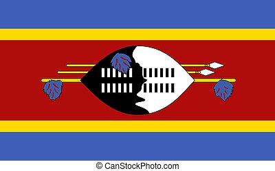 Swaziland Flag  - Vector Illustration