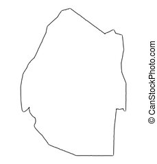 Swaziland outline map