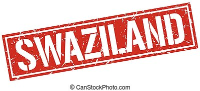 Swaziland red square stamp