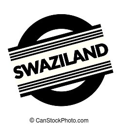 swaziland stamp on white background . Sign, label sticker