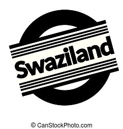 swaziland stamp on white - swaziland black stamp in italian...