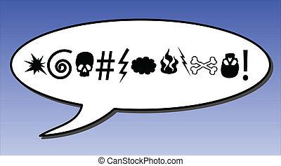 Comic swear word in a speech bubble