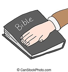swearing under oath bible - An image of a swearing under...