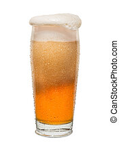 Sweated Craft Pub Beer Glass Overflowing with Beer #1