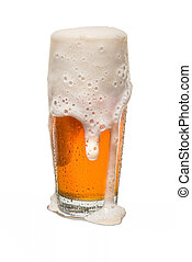 Sweated Craft Pub Beer Glass Overflowing with Beer #3