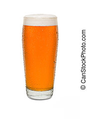 Sweated Craft Pub Beer Glass with Running Drip Down Side #1
