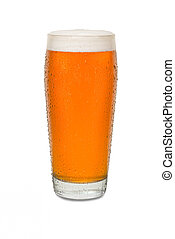 Sweated Craft Pub Beer Glass with Running Drip Down Side #2