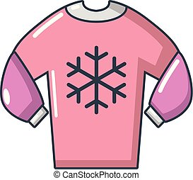 Sweater icon, cartoon style