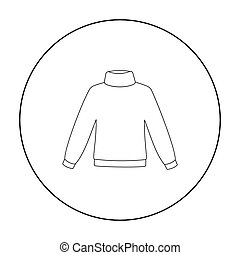 Sweater icon of vector illustration for web and mobile...