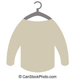 sweater on hanger flat illustration