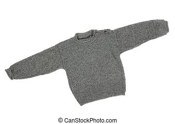Sweater - Children's wear - sweater isolated over white...