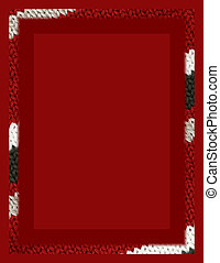 Sweater Texture Border on Red