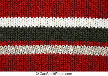 Sweater Texture - Red, black, tan, white, sweater fabric...