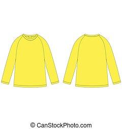 sweatshirt., δραμάτιο , πίσω , ρεγκλάν , σχεδιάζω , wear., πυτζάμα , τεχνικός , άπειρος , ανέμελος , αντίκρυσμα του θηράματοσ. , αντιμετωπίζω , template., κίτρινο