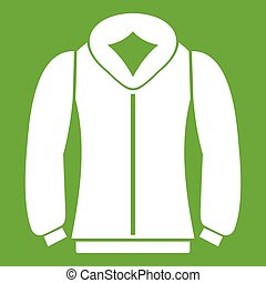 sweatshirt, grün, ikone